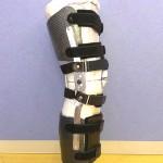 熱可塑ラミネートシート加工成形例(膝装具)